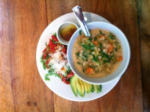 Sample meal: barley stew