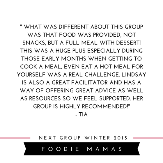 new moms support group - foodie mamas reviews